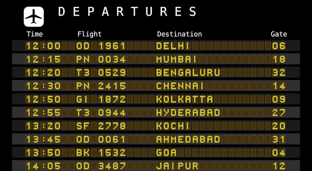 Chennai International Airport hosts flights from over 20 destinations worldwide