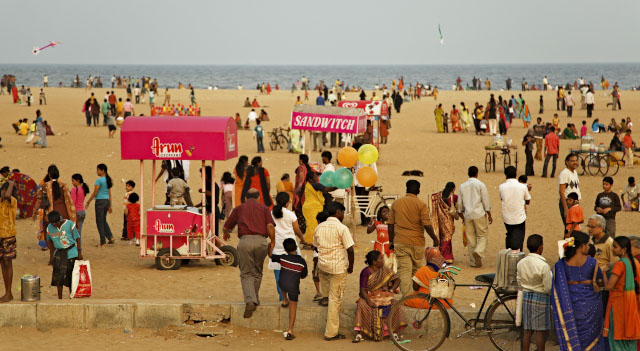 Marina Beach is one of the most popular sites of Chennai